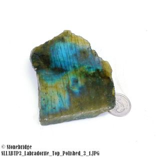 "Labradorite Slice Top Polished - Size #3 - 1 3/4"" to 3 1/4"""