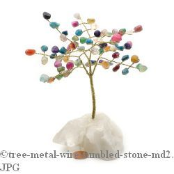 Multicolour Gem Tree with Wire Trunk 6""
