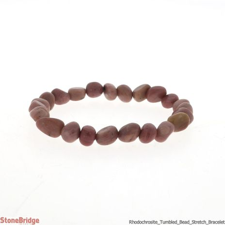Rhodochrosite Tumbled Bead Stretch Bracelet