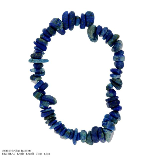 Lapis Chip Bead Stretch Bracelet