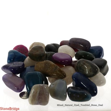 Mixed Tumbled Stone - 1kg Mesh bag