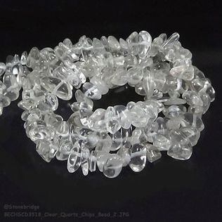 """Clear Quartz - Chips Bead 32"""" strand - 5 to 8mm"""