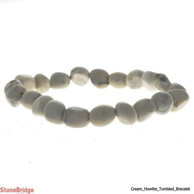 Howlite Cream Tumbled Bead Stretch Bracelet