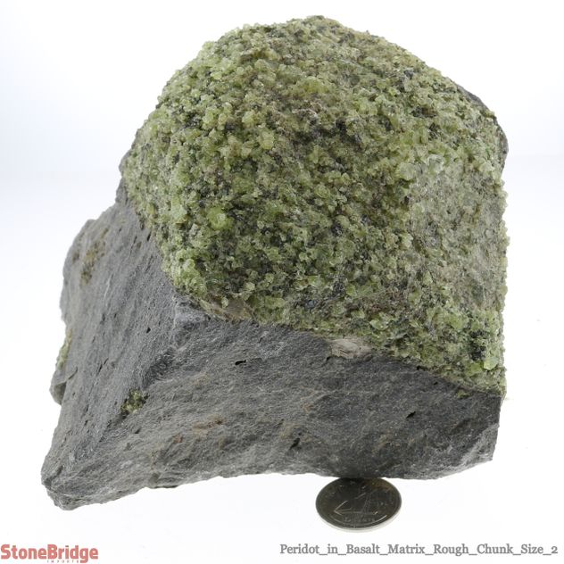 "Peridot in Basalt Matrix Rough Chunk #2 - 3"" to 7"""