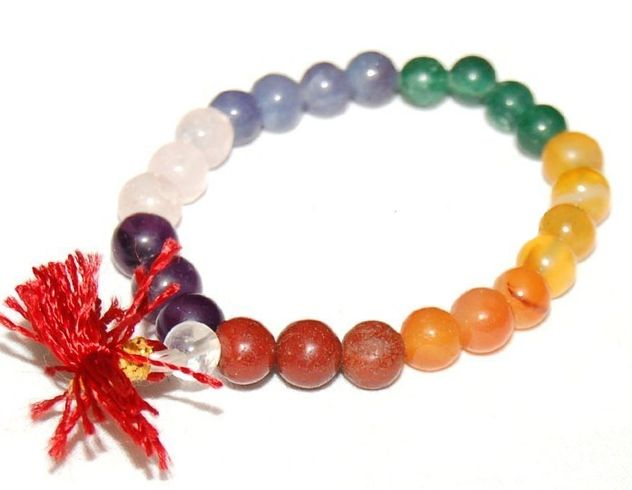 Chakra Stones 007 Round Bead Stretch Bracelet - 8mm