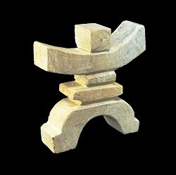 Inukshuk Soapstone Carving hand carved in Canada