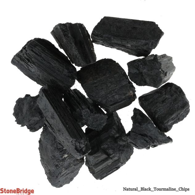 Tourmaline Black Crystal Chips - Large - 500g Bag