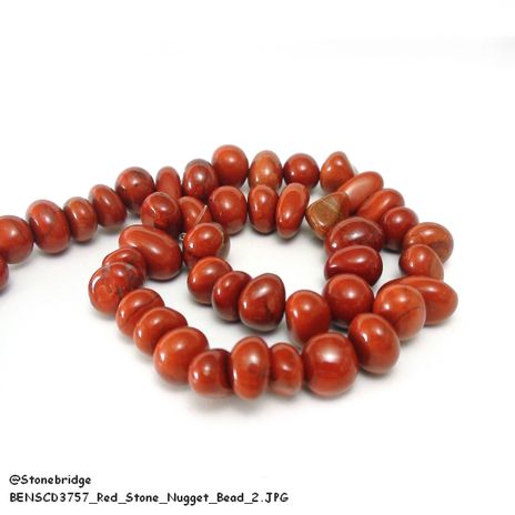 Red Stone - Nugget Bead