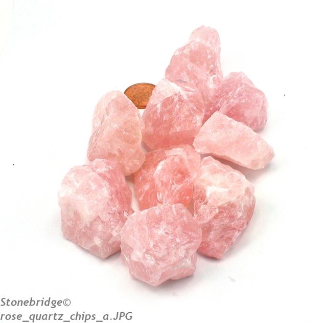 "Quartz Rose Extra ""red"" Chips - 500g bag - Medium 1"" to 2"""