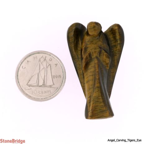 "Tiger's Eye Angel - Pocket Size 1 - 7/8"" to 1 1/2"""