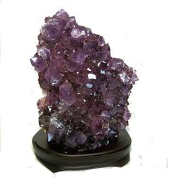 "Amethyst on wood base Size #2 - 5"" to 8"""
