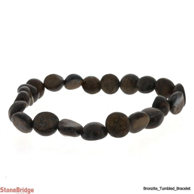 Bronzite Tumbled Bead (Small Stones) Stretch Bracelet