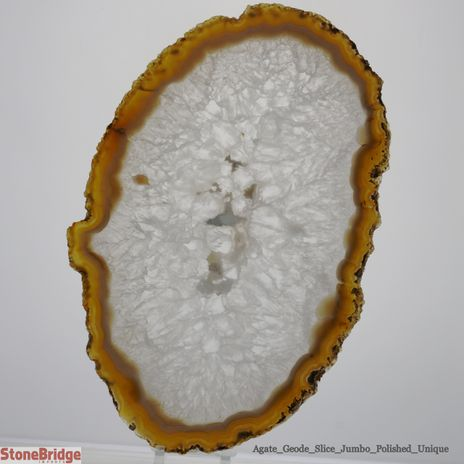 "Agate Slice Thin Unique #1 - 14"" x 9"""
