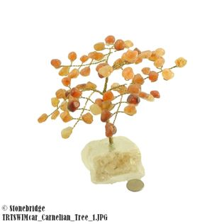 Carnelian Gem Tree with Wire Trunk 6""