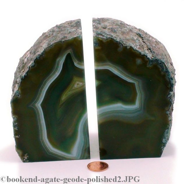 "Agate Geode Bookend - Large - 6"" to 10"" tall"