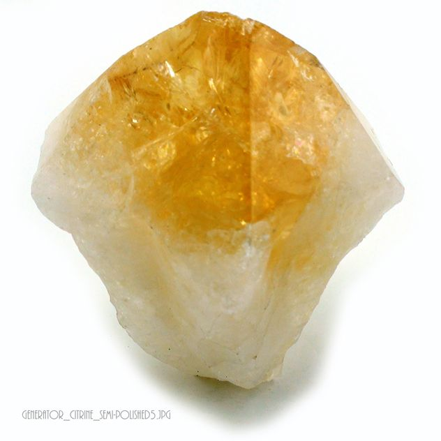 "Citrine Point Cut base - stands up - Size #3 - 2 1/2"" to 3 1/4"""