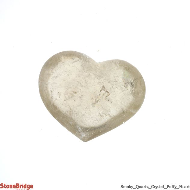 "Smoky Quartz Crystal Puffy Heart - Size #5 - 2"" to 3"""