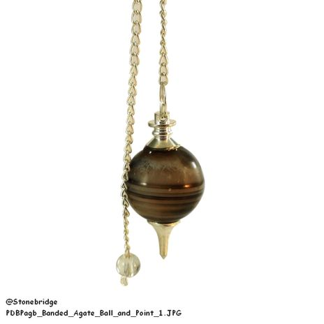 Banded Agate Ball and Point Pendulum