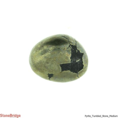 Pyrite, Iron Matrix Tumbled Stone