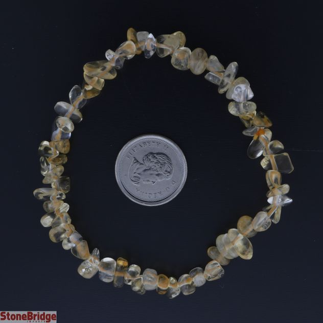 Citrine Chip Bead Stretch Bracelet