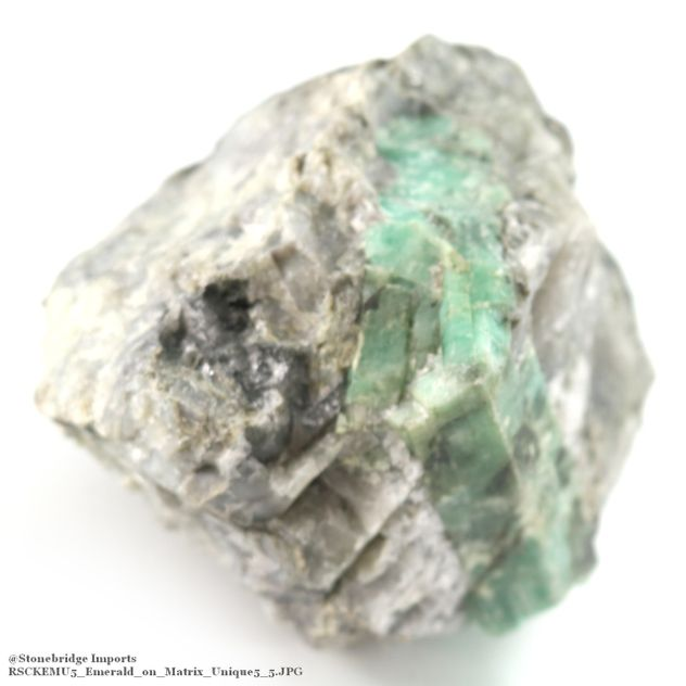 "Emerald on Matrix Chunk - Unique #5 - 5"" x 4 1/2"""