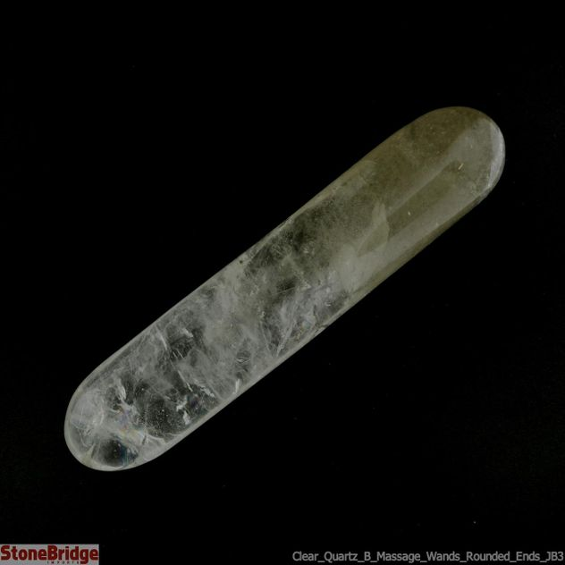 Clear Quartz B Massage Wands - Rounded Ends - JB3