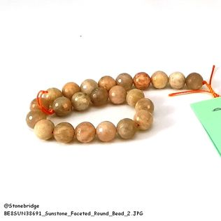 "Sunstone Multi Colour Faceted - Round Bead 7"" strand - 6mm"