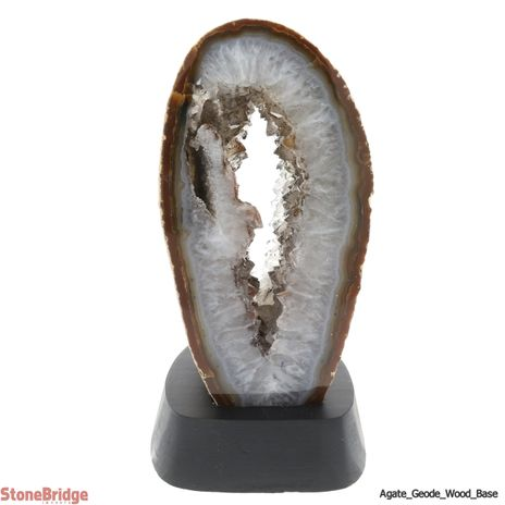 Agate Geode on Wood Base - Size #3 - 500g to 700g