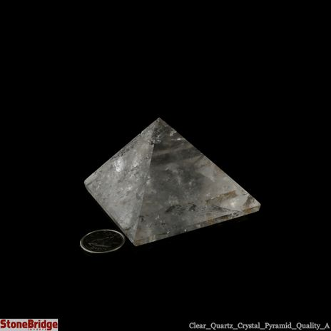 "Quartz Crystal Pyramid - Quality A Size #4 - 2"" to 2 1/4"""