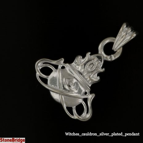 Witches silver plated pendant