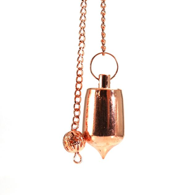 Metal Pendulum - Copper Colour with Chain - 1""