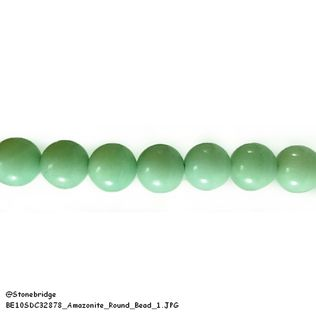"Amazonite - Round Bead 7"" strand - 8mm"